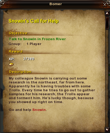 20 Snowin's Call for Help