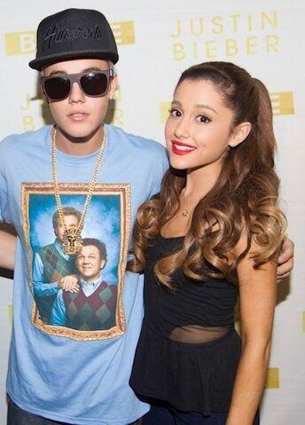File:Ariana grande and justin bieber.jpg