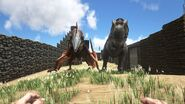ARK-Tyrannosaurus and Quetzalcoatlus Screenshot 002