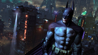 Batman overlooking