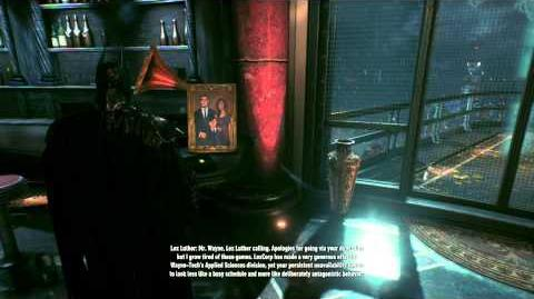 Batman Arkham Knight Lex Luthor Voice Mail and Batwoman Easter Egg (Includes Other Call)