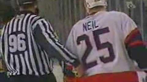 Ottawa vs Buffalo Feb 22 07 Neil Hit then fight vs Stafford