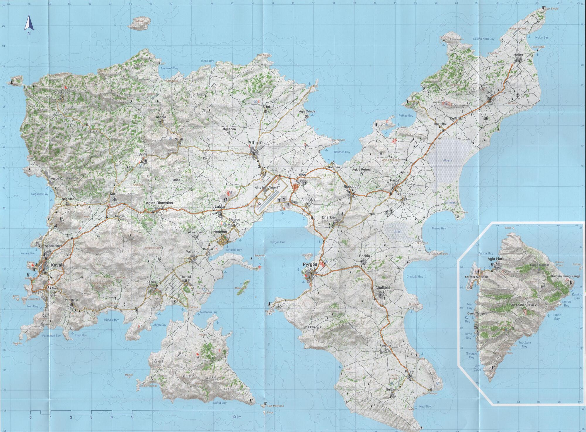 nationstates dispatch map of altis stratis