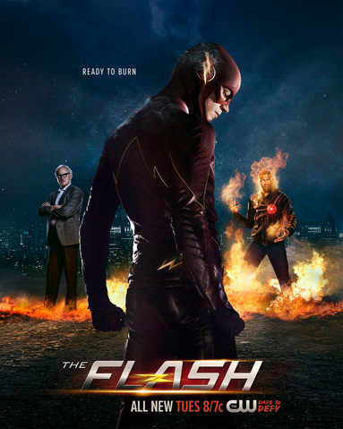Файл:The Flash season 2 poster - Ready To Burn.png