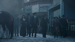 Rip Hunter's team walks through Salvation
