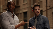 James and Winn surprised that one another knew Kara's secret
