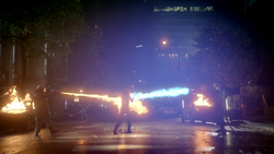 Heat Wave and Captain Cold fight The Flash