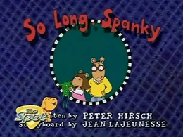 So Long, Spanky Title Card