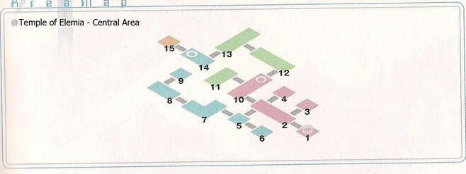 Temple of Elemia - Center Area Area Map