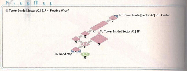 Tower Sector A2 91F and Floating Wharf Area Map