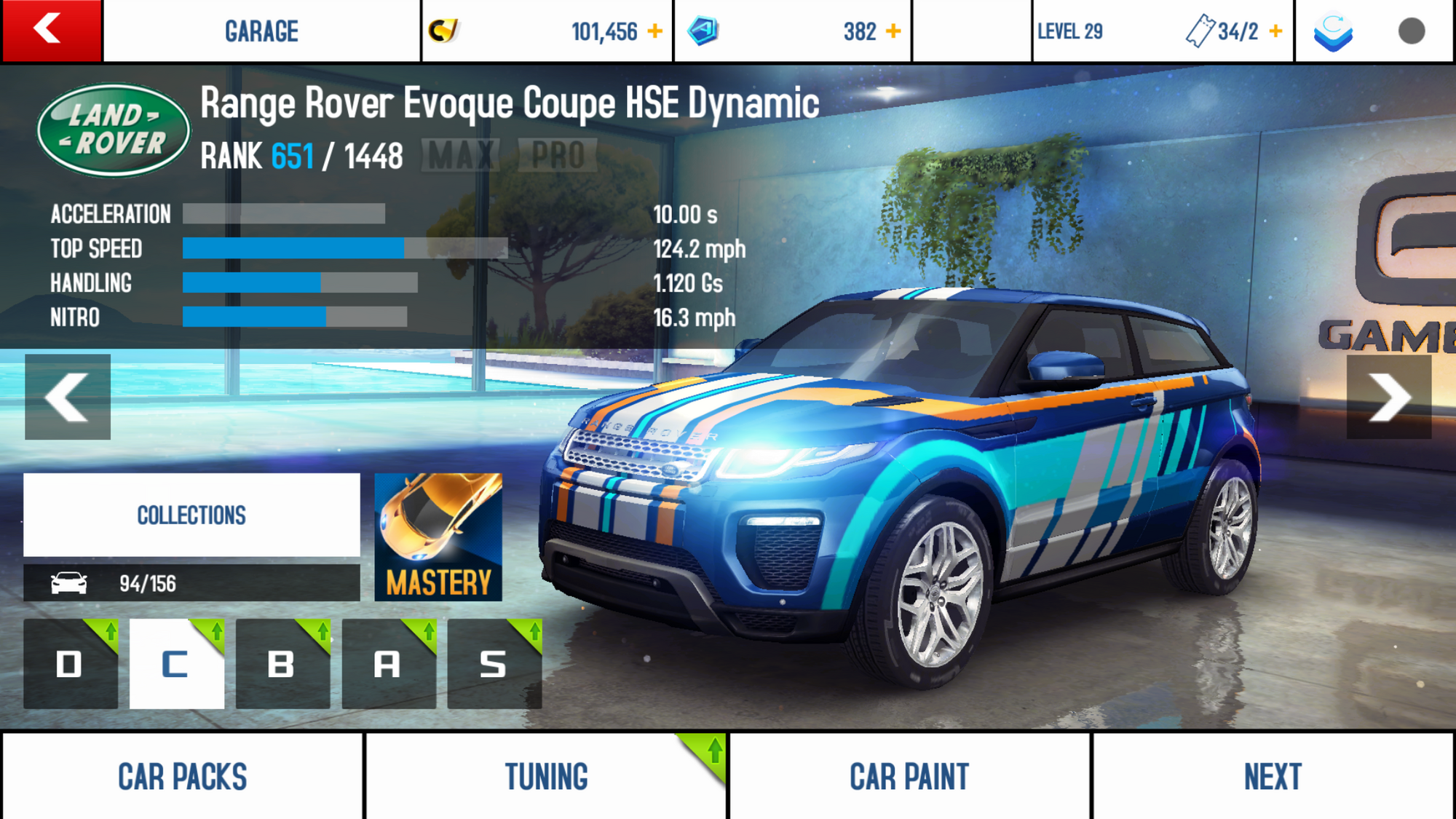 range rover evoque coupe hse dynamic performance stats