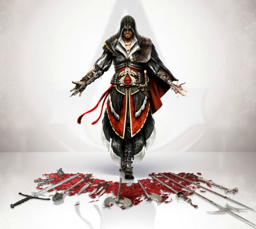 File:Assassins Creed 2 Ezio weapon concept art by Michel Thibault.png