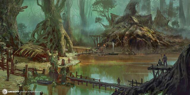 File:AC4BF Bayou Camp - Concept Art.jpg