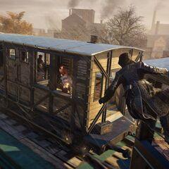 雅各布搭上一列飞驰的火车