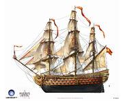 Assassin's Creed IV Black Flag -Ship- SpanishMilitaryNavalShips ManOfWar by max qin
