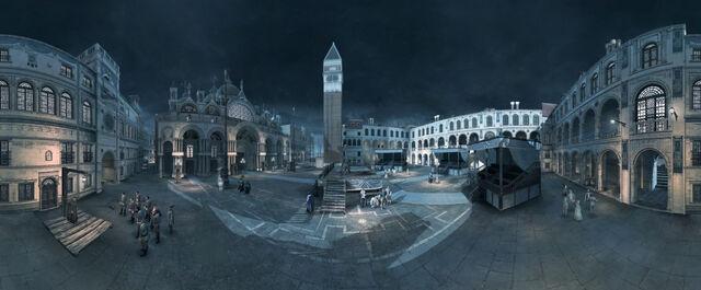 File:Basilica di San Marco Square Panoramic.jpg
