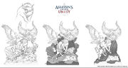 ACU Guild Statue - Concept Art