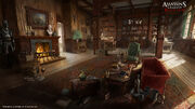 AC4 Great Inagua Manor Library - Concept Art