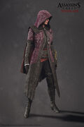 ACS Evie Frye Nightshade Cloak Model - Front View