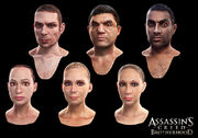 Laurent Sauvage NPCs face models - Assassin's Creed Brotherhood