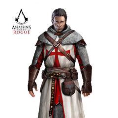 谢伊穿着11世纪圣殿骑士团护甲原画