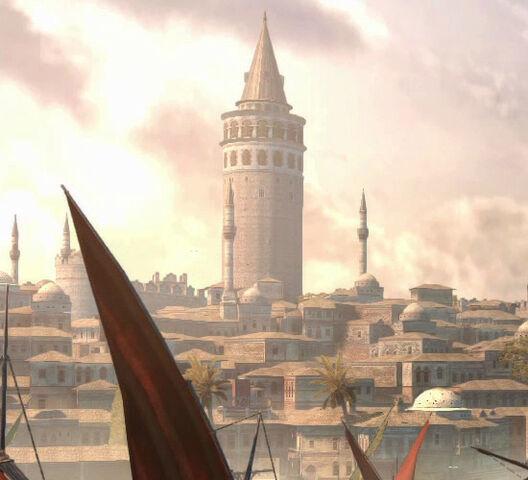 File:Constantinople Galata Tower.jpg