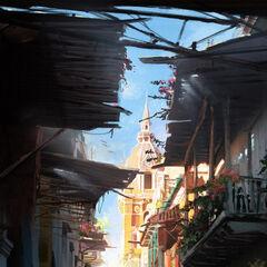 An alleyway in Havana