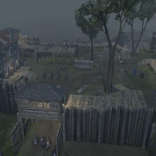 爱国者在蒙茅斯要塞中