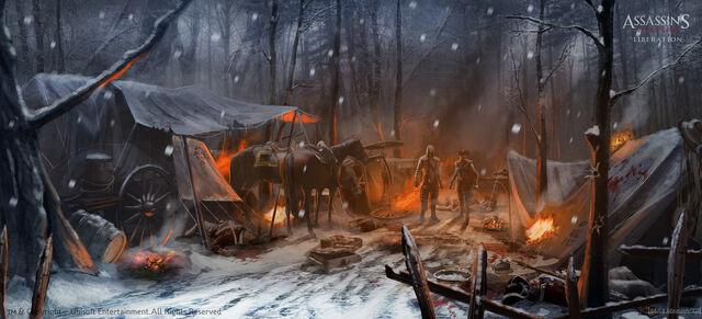 File:Assassin's Creed 3 Liberation - following the tracks - by EddieBennun.jpg