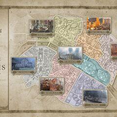 18世纪巴黎地图