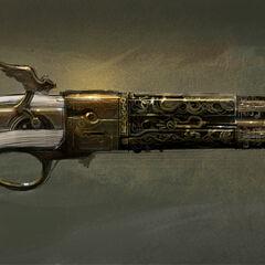 刺客信条3多人游戏中苏格兰燧发手枪原画