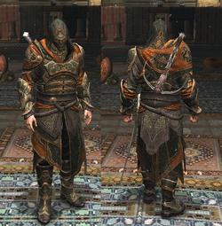 Ezio con indosso l'Armatura di Ishak Pasha