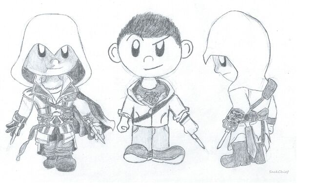 File:Ezio, Desmond and Altair SD by Sackchief.JPG
