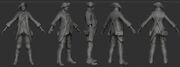 AC3 Benjamin Franklin Disguise ZBrush Model