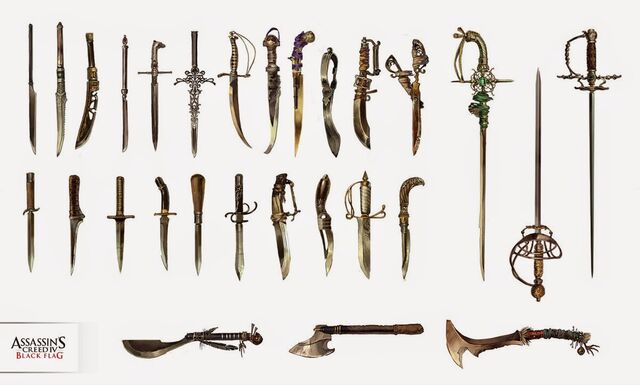 File:AC4 Multiplayer Weapons - Concept Art.jpg
