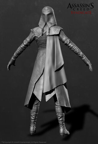 File:ACS Evie Frye Nightshade Cloak ZBrush Model - Back View.jpg