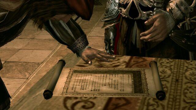 File:Leonardo deciphering the codex page for the hidden gun.jpg