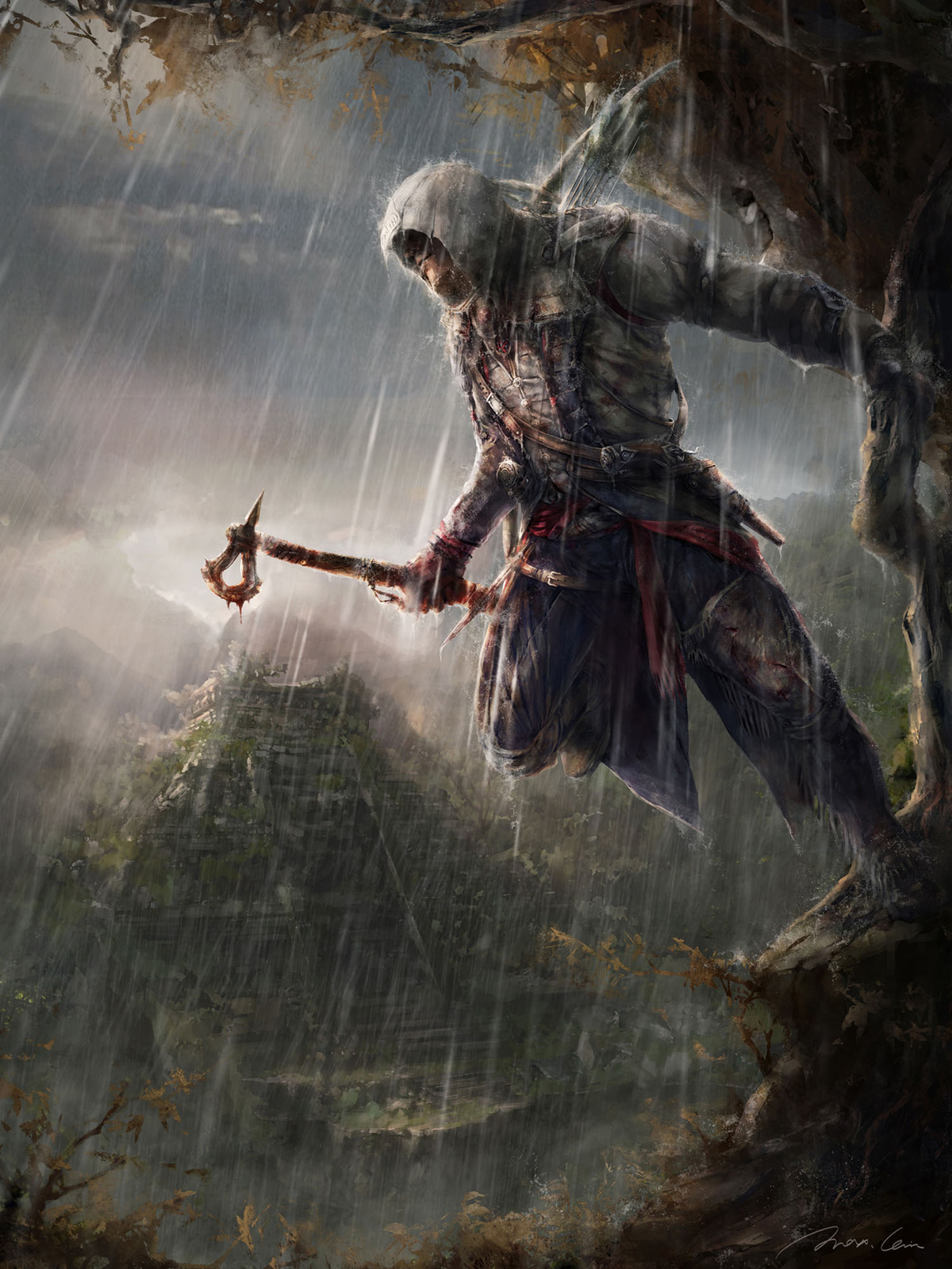 image assassin 39 s creed 3 illustrations connor befall cozumel by max assassin 39 s creed. Black Bedroom Furniture Sets. Home Design Ideas