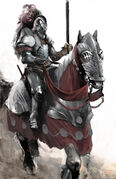 Concept art of a horseman