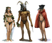 Pagan party guests
