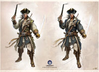 Connor in Captain Kidd's Robes - Concept Art