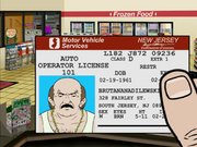 Carl's Drivers License