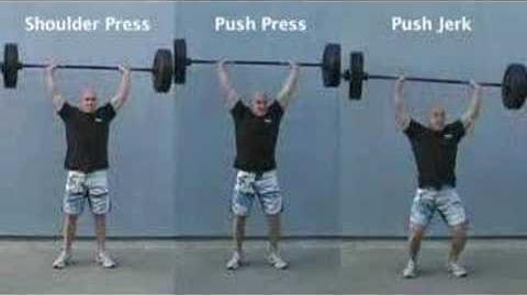 Shoulder press push press push jerk tri-panel