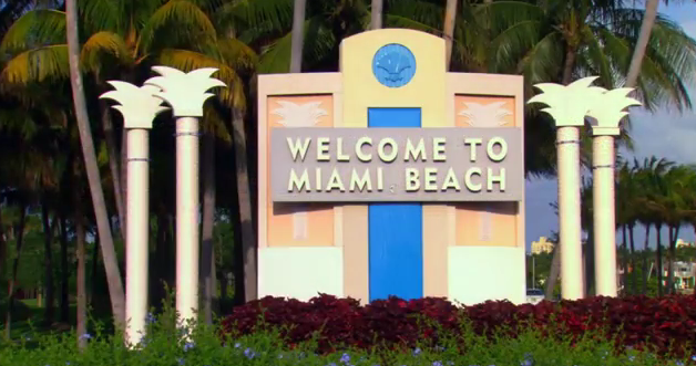 Miami Sign On The Beach Stock Photo 134878136 : Shutterstock