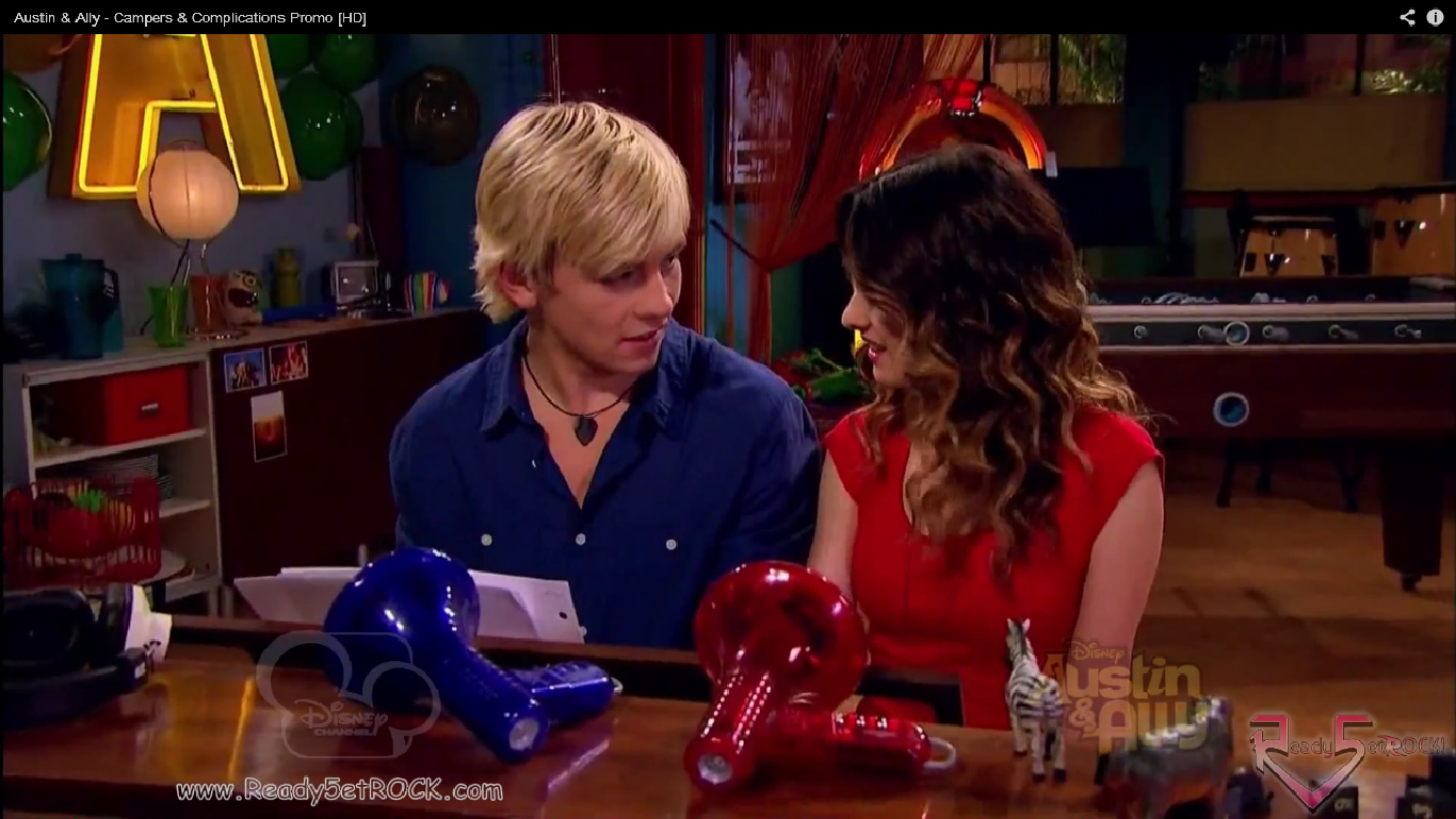 Austin And Ally Campers And Complications Austin leaning in for a kiss