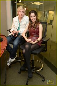 Ross Lynch and Laura Marano - Sirius XM (6)