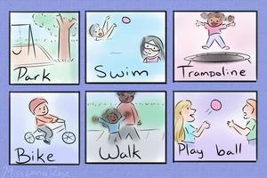 PECS cards illustrated by MissLunaRose