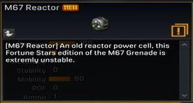 M67 Reactor description