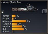 Jason's chainsaw stats