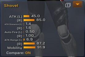 Shovel stats